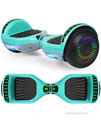 """LIEAGLE Hoverboard 6.5"""" Self Balancing Scooter Hover Board with Bluetooth Wheels LED Lights for Kids Adults"""
