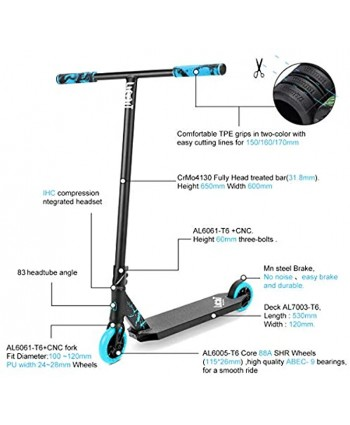 Limit LMT01-V2 Professional Scooter-Trick Scooter-Intermediate and Professional Stunt Scooter Suitable for Children Teenagers and Adults 8 Years Old and Above-Durable