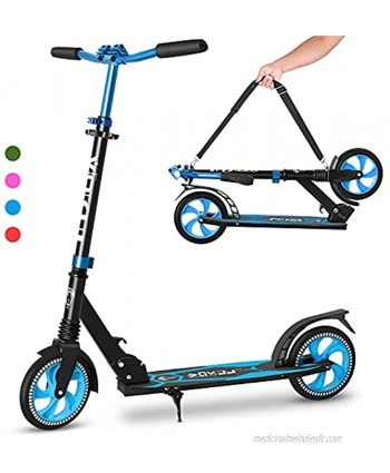 VOKUL Folding Kick Scooter for Adults and Kids Scooter for Kids Ages 6-12 Scooters for Teens 8 Years and Up Commuter Scooters with Quick Release Folding System