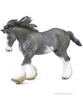 "Collecta Black Sabino Roan Clydesdale Stallion Vinyl Toy Animal Figure 7.9""L x 5.1""H"