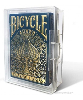 5 Pack Playing Card Deck Boxes Empty Storage Box Snaps Closed Plastic Case Fits Pokemon MTG Yugioh and Baseball Trading Cards by BitsBins 5 Pack