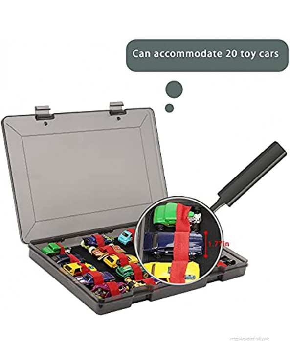 KAMISAN Toys Organizer Storage case Compatible with 20 pcs Hot Wheels Car,Container for Matchbox Cars,Mini Toys,Small Dolls,Carrying Box for Hotwheels Car,Plastic MaterialBox Only
