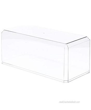 """Pioneer Plastics Clear Acrylic Display Case for Large 1:18 Scale Cars 15.5"""" W x 7"""" D x 6"""" H"""