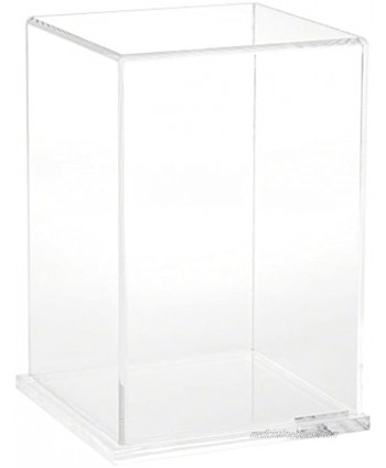 """Plymor Clear Acrylic Display Case with Clear Base 6"""" W x 6"""" D x 9"""" H"""