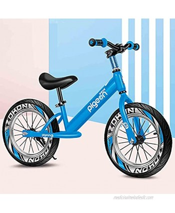 WWFAN Boys Bike 16 Inch Kids Bike Ages 5-9 Kids Lightweight Bikes Youth Mountain Bike No Pedal Beginner Training Bicycle with Air Tire Safe Secure Color : Blue