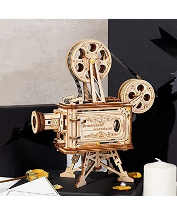 ROKR 3D Wooden Puzzles for Adults- 183pcs Mechanical Building Kits Movie Projector Educational Toys Gift for Adults &Teens Vitascope