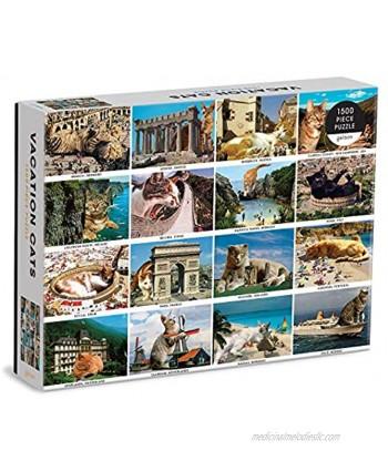 Galison Vacation Cats 1500 Piece Puzzle