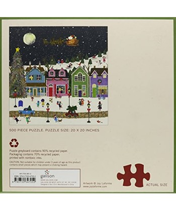 Galison Winter Wonderland 500 Piece Jigsaw Puzzle for Adults and Families Winter Puzzle with Holiday Themes