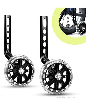 ZSFLZS Bicycle Training Wheels for 12 14 16 18 20 inch Single Speed Kids Bike Stabilizers 1 Pair