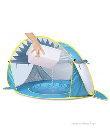 SHXKUAN 2021 Upgrade Baby Pop Up Tent,Beach Shade Baby Pool Tent,UPF 50+ Sun ShelterWaterprooffor Toddler Aged 0-4 Years Blue
