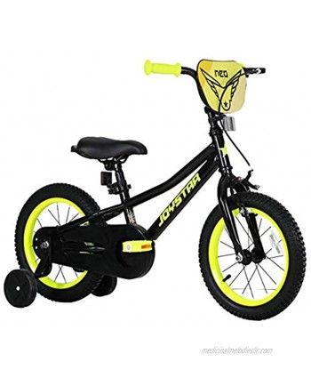 JOYSTAR NEO Kids Bike for 3-10 Years Old 12 14 16 18 20 Inch Kids Junior Bicycle with Front Caliper Brake & Training Wheels for Boys & Girls Black Blue Pink