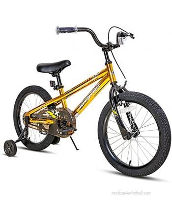 JOYSTAR Pluto Kids Bike with Training Wheels for 12 14 16 18 20 inch Bike Kickstand for 18 20 inch BMX Freestyle Bicycle Black Blue Red Green Orange Pink Golden