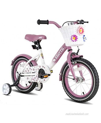 JOYSTAR Starry Kids Bike for Ages 3-9 Years Girls with Hand Brake and Basket 14 16 18 Inch Princess Bikes Bicycles with Training Wheels and Fenders Children Bicycle