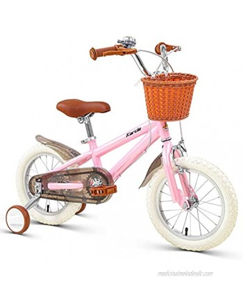 Karcle 14 16 18 inch Kids Bike Boys Girls Bicycle with Detachable Training Wheels Child's Bike for 3-10 Years Old 35-59 inch Tall Kids Bicycle with Front & Rear Dual Hand Brake Children Bicycle…