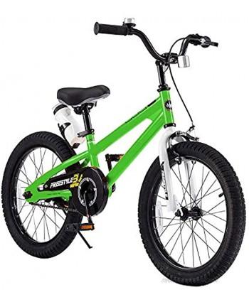 RoyalBaby Kids Bike Boys Girls Freestyle Bicycle 12 14 16 Inch with Training Wheels 16 18 20 with Kickstand Child's Bike Blue Red White Pink Green Orange