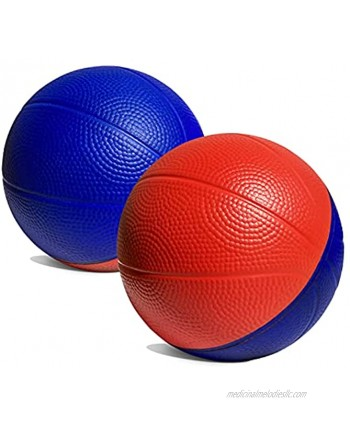 """4"""" Mini Foam Basketball for Over The Door Mini Hoop Basketball Games 2 Pack 