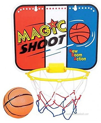 ArtCreativity Magic Shot Mini Basketball Game for Kids Includes 1 Mini Ball 1 Backboard Net & Hanging Stickers Indoor Basketball Set for Home Office Bedroom Best Gift for Boys and Girls