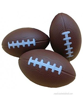 """Foam Ball Toy Football The Perfect Sports Toy for Party Supplies Mini Football for Kids. 3-Pack One Each of Color. Foamballs are 4.75"""" x 3"""""""