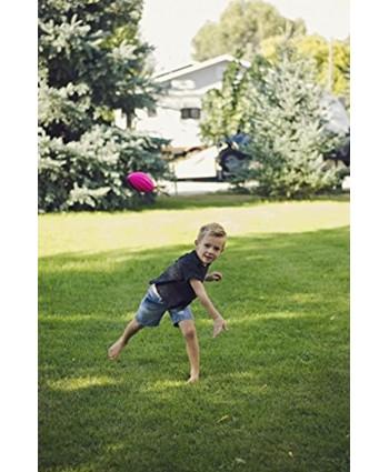 "LMC Products Mini Footballs 5"" Spiral Foam Football Small Football for Kids Mini Footballs Party Favors – 4 Pack Green Yellow Orange Pink"