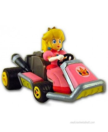 """Mario Kart 7 Racing Collection Pull Back Racer ~ 2"""" Peach"""