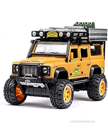 PJDOOJAE 1 :28 Real Reduction of Children's Toys with Real Sound Light Car Off-Road Vehicle Alloy Car Model Children's Sound and Light Pull Back Toy Car Die-Casting Car for Collection