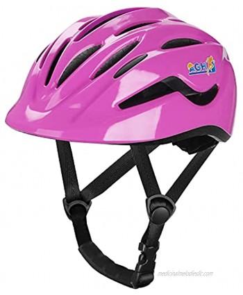 AGH Toddler Helmet Kids Bike Helmet for Age 2-8 Boys Girls Adjustable & Vented Kids Bicycle Helmet for Multi-Sports Cycling Skating Scooter