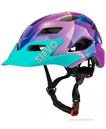SIFVO Kids Bike Helmet Youth Roller Skate Helmet,Bicycle Helmets Sports Helmets for Boys and Girls Aged 5-14 50-57cm