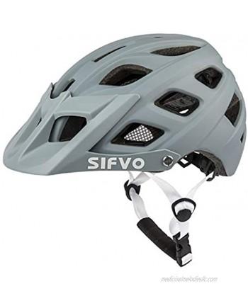 SIFVO Youth Bike Helmet Mountain Bike Helmet with Removable Visor Adjustable and Lightweight Bike Helmet for Kids Boys and Girls Ages 8+ 55-58 cm