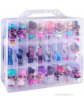 48 Compartment Toys Organizer Storage Case for Dolls Hot Wheels Car Matchbox Cars LPS Figures Shopkins Lego Dimensions and More ONLY A Box
