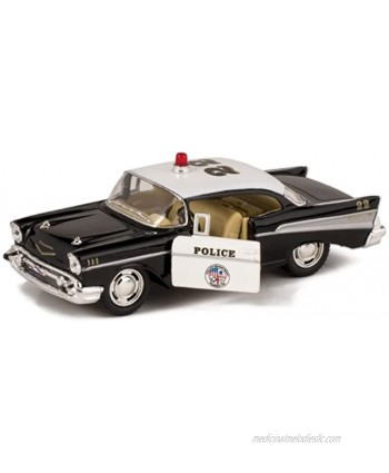 Kinsmart 1957 LAPD Police Chevy Bel Air 1 40 Scale Diecast Squad Car by Kinsmart