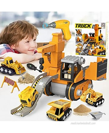 Toys for 3 4 5 6 7 8 Year Old Boys Noetoy Take Apart Toys with Electric Drill 4 in 1 DIY Take Apart Truck Construction Toys Christmas Birthday Gifts for 5 6 7 8 9 10 Year Old Boys Girls Kids