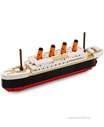 Brick Loot Titanic Building Bricks Set Mid Sized 217 Pieces 100% Compatible fits Lego and Other Major Brands