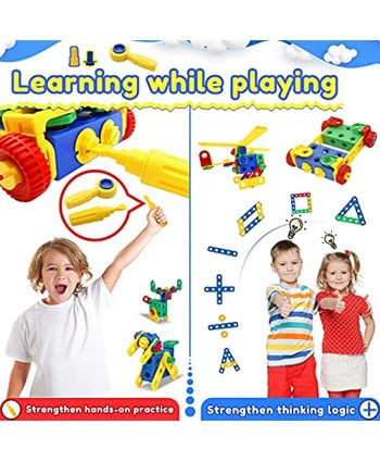 Building Blocks STEM Toys Educational Construction Set Engineering Toys Kit Creative Activities Games Learning Gift for Kids 4-8 Years with Toy Storage Box