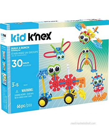 KID K'NEX – Build A Bunch Set – 66 Pieces – For Ages 3+ Construction Educational Toy  Exclusive packaging may vary