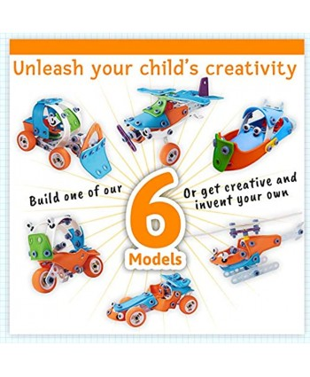 STEM Toys Educational Engineering Model Building Set Best Erector Kit Creative DIY Construction STEM Learning Toy for Kids Toddlers Boy Girl Age 5 6 7 8 9 Years Old Build and Play