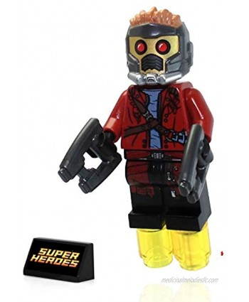 LEGO Marvel Super Heroes Guardians Of The Galaxy Minifigure Star Lord with Helmet and 2 Blasters