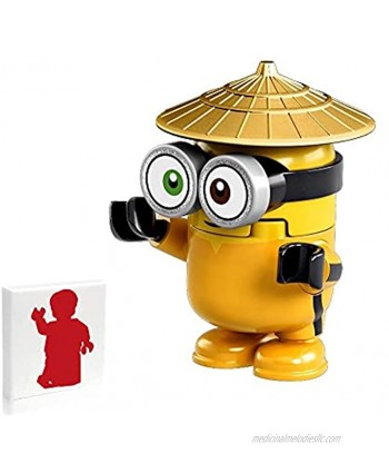 LEGO Minions Minifigure Bob in Orange Jumpsuit with Gold Hat 75551