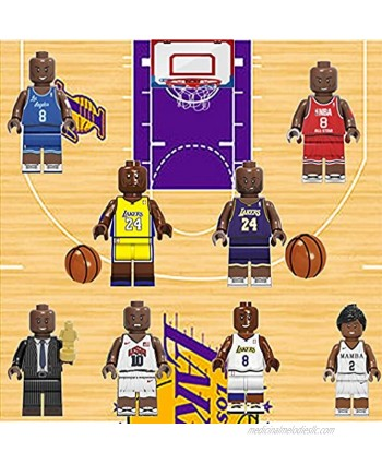 8pcs Basketball Super Star Ko Be Building Blocks Toy Bricks Action Figures Collectibles Commemorative Gifts Toy for Kids