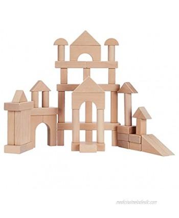 Basics Solid Wood Standard Unit Building Blocks 70 pieces