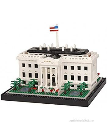 Geniteen Building Block Set Architecture White House Micro Mini Blocks 2300 PCS Building Blocks Model Toys Gift for Adults and Children