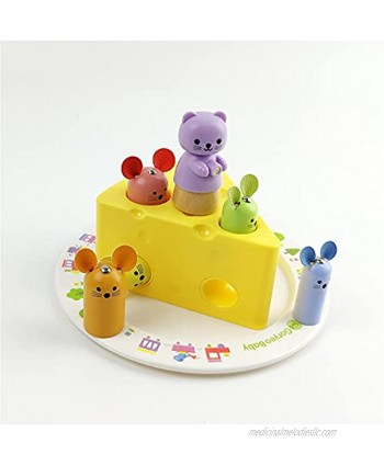 Goryeo Baby cat and Mouse Puzzle Building Blocks Toys Enlightenment Education Toys 123 Years Old Boys and Girls Recognize The Best Gift for Early Childhood Education