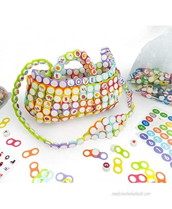 N\A Zooest Building Block Interlocking Puzzle Toys 144pcs DIY Plastic Buckle Button Toys for Age 4 5 6 7 8 9 10 Years Great Button Art Toys for Gifts