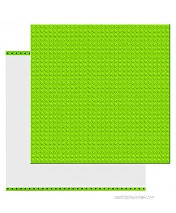 "EKIND 2 PCS Self Adhesive Classic Building Brick Plate 10"" x 10"" Compatible for Building Brickyard Blocks All Major Brands Light Green…"
