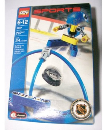 Lego Sports Blue Player and Goal