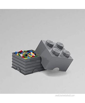 Room Copenhagen Lego Storage Brick Box Stackable Storage Solution Dark Grey Brick 4