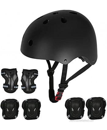Kids Helmet Toddler Helmet Sport Protective Gear Set Boy Girl Adjustable Child Kids Bike Cycling Helmet with Knee Pads Elbow Pads Wrist Guards Youth Skateboard Helmet