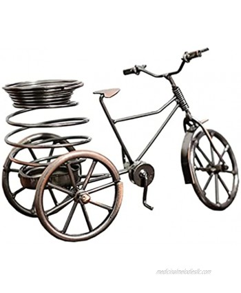 BESPORTBLE Metal Bike Figurine Tricycle Pen Holder Bicycle Model Miniature Dollhouse Desktop Crafts Ornaments for Office Home