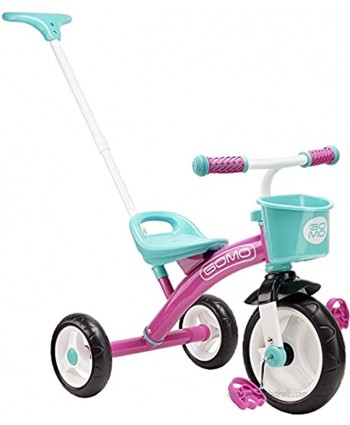 GOMO Kids Tricycles for 2 Year Olds 3 Year Olds & Kids 1-6 Big Wheels Baby Bike Toddler Bikes Trikes for Toddlers with Push Handle