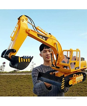 RENFEIYUAN 1 16 Remote Control Toy Excavator,2.4Ghz 16 Channel Full Functional Excavator Digger with Lights Sounds Included Electric excavators Toys
