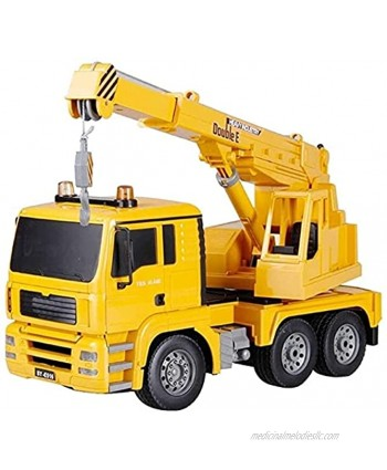 RENFEIYUAN 1 20 Simulation Remote Control Crane Vehicle with LED Headlight Professional 2.4GHz Radio Control Truck Model Large USB Rech excavators Toys